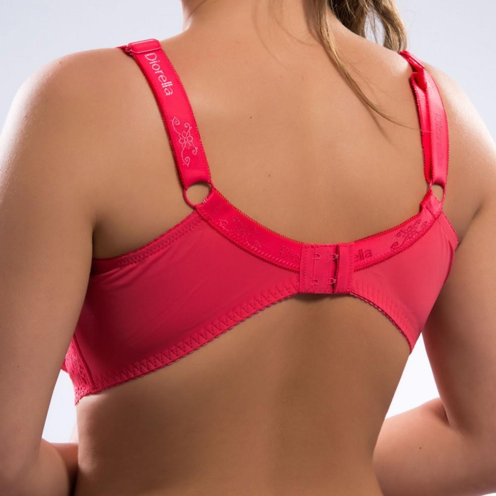 Жіночий бюстгальтер без поролона коралово-рожевого кольору Diorella 34986 на чашку F Арт.1140119