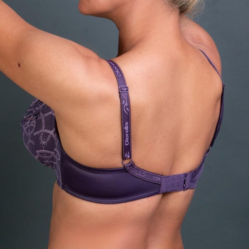 Жіночий бюстгальтер без поролона фіолетового кольору Diorella 5028 на чашку E Арт.1140255