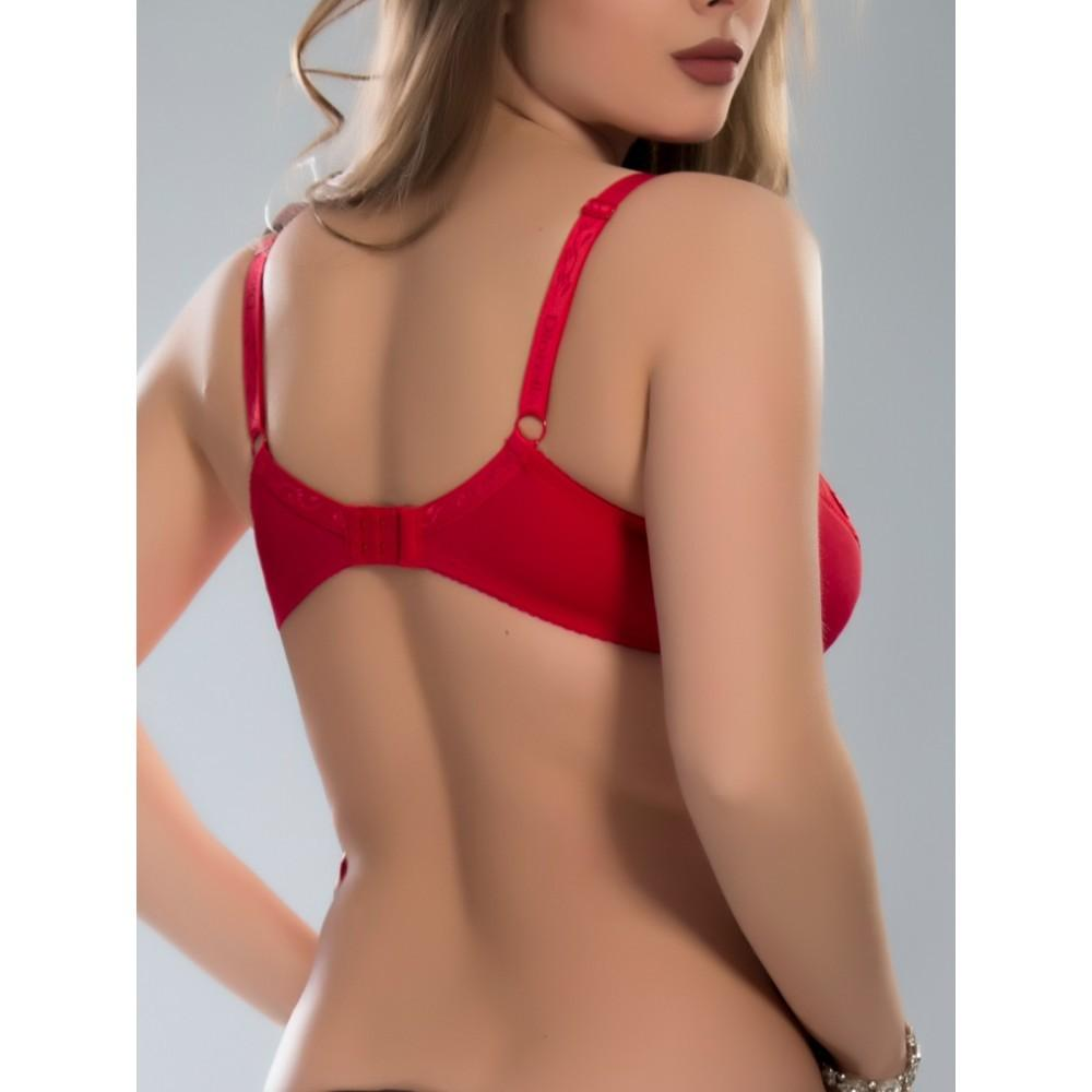 Бюстгальтер червоного кольору Diorella 69516 на чашку D Арт.1140290